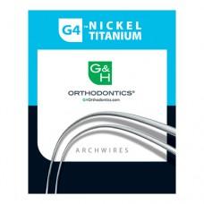 G4 NICKEL TITANIUM (NiTi) ARCHWIRES -  LINGUAL - MEDIUM - UNIVERSAL