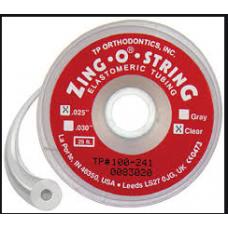 """ZING-O STRING HOLLOW ELASTIC THREAD .025""""  CLEAR"""